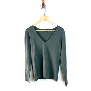 Theory Wool Blend V-Neck Sweater